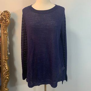 Rebecca Taylor Loose Thin Knit Pullover Sweater